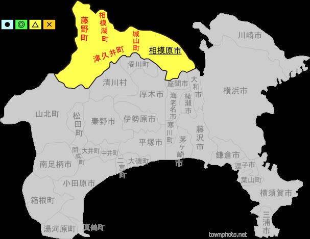 神奈川 県 地図